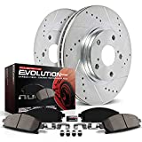 Power Stop K2324 Front Brake Kit with Drilled/Slotted Brake Rotors and Z23 Evolution Ceramic Brake Pads