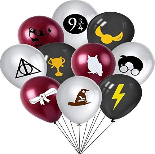 WENTS Zauberer Geburtstag Party Deko 20 Stück Harry Potter inspiriert Luftballons Geburtstagsdeko Themenparty, Motto Lieferungen Partyzubehör für Kinder Jungen Mädchen