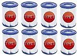Hoimlm - Cartuchos filtrantes para piscina Bestway II tamaño 2 tipo 2, bomba de...