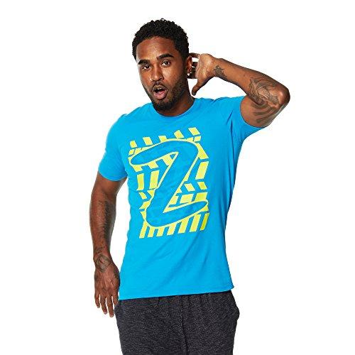 Zumba Fitness ZRep My Style Graphic tee Camisetas, Hombre, Azul, M