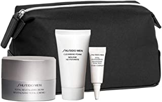 Shiseido Men Total Age-Defense Program Set: 1xTotal Revitalizer Cream 50ml+1xCleansing Foam 30ml+1xTotal Revitalizer Eye 3ml+1xPouch 4pcs