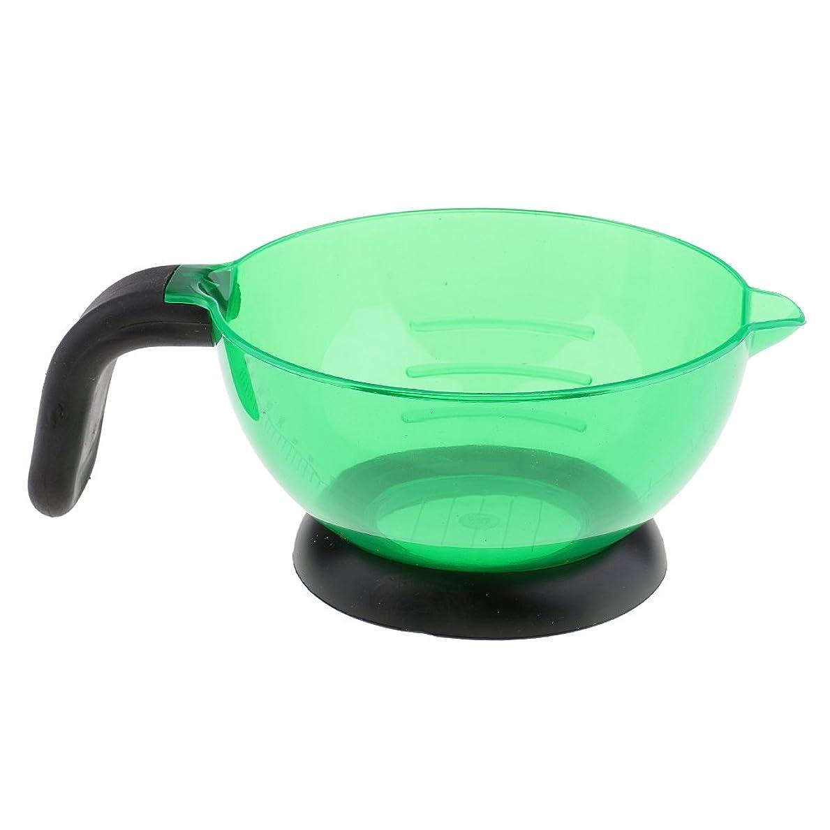 口頭商品釈義Perfk 全3色選べ ヘアカラー シリコン 多機能 染め用具 美容室/サロン 染剤ボウル 調和用ボウル - 緑