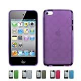 PURPLE Apple iPod Touch 4 4G w/Cameras (iPod Touch 4G, iPod Touch 4th Generation) 16GB 32GB 64GB BUBBLE TPU Transparenet Silicone Gel Case Skin Cover + Free Screen Protector