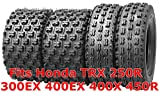 4 WANDA ATV Race tires 22x7-10 & 20x10-9 fit for Honda TRX 250R 300EX 400EX 400X 450R