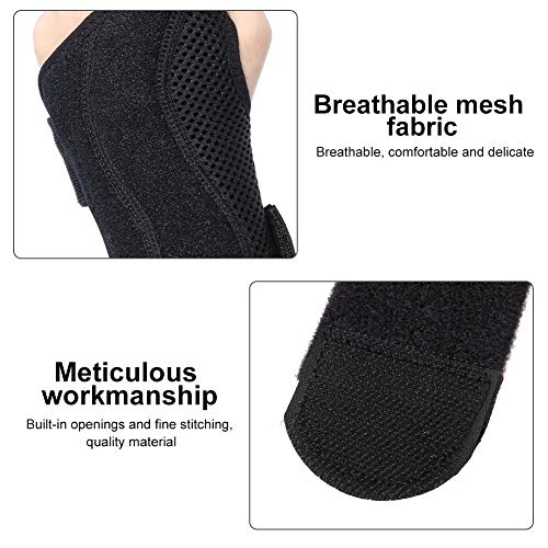 Wrist Support Breathable Wrist Bandage - Wrist Splint Support, Wrist Palm Protector Hand Wrist Brace with Removable Rail Stabilizer, Ideal for Carpal Tunnel, Sprains, and Tendonitis (Left)