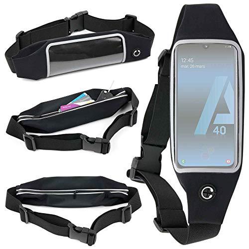 DURAGADGET Ceinture de Sport réglable pour Smartphone Samsung Galaxy A20 (A205F), A20e, A40 (A405F), A10 (A105F) et A70 (A705F) - écran Tactile + Poche Interne