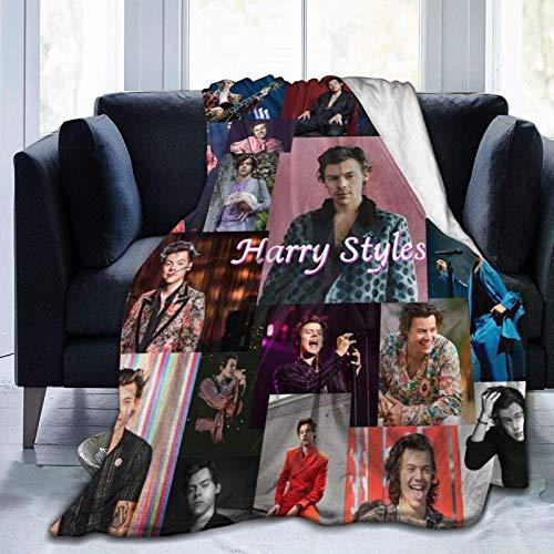 Harry Styles - Manta de microfibra ultrasuave, suave y cálida con impresión digital, manta de franela para Navidad, cumpleaños, regalo de cumpleaños de 156 x 150 pulgadas