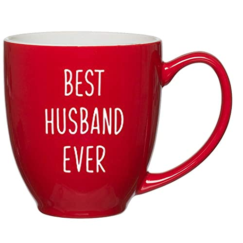 Best Husband Ever Customized Red Bistro Mug For Birthday Or Anniversary Gift Ideas