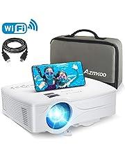 プロジェクター 5000lm 小型 AZMKOO WIFI対応 スマホに直接接続可能 交換アダプター不要 1920×1080最大解像度 ホームシアター HDMI/USB/SD/AV/VGA対応 TV Stick/HDMI/DVDプレイヤー/iPhone/ゲーム機に接続可能