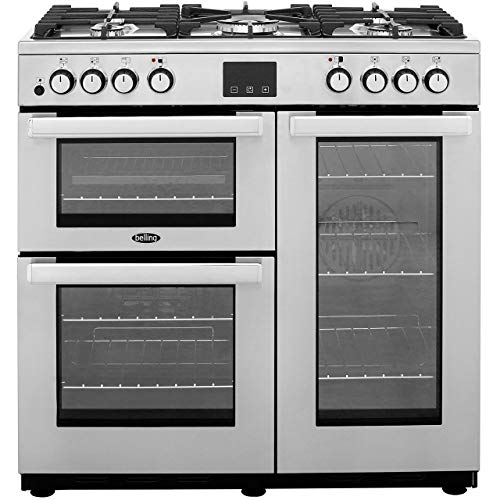 Belling Cookcentre90DFTProf 90cm Dual Fuel Range Cooker - Stainless Steel