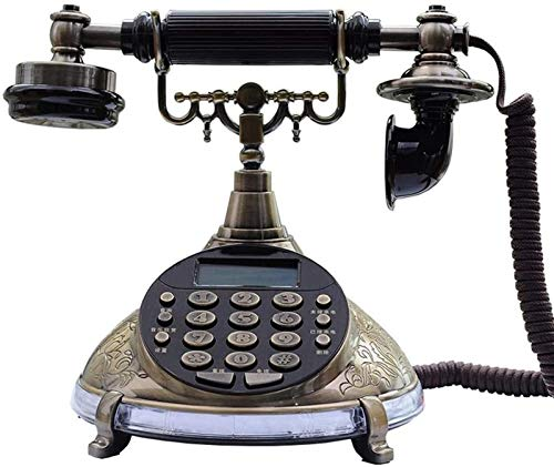 YYCHJU Teléfono con Cable Teléfono Fijo Antiguo Teléfono Fijo Fijado Europeo Retro Old Home Office Teléfono