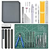 OFNMY Professional 53 PCS Gundam Model Tools Kit Hobby Building Tools Craft Set Gundam Modeler Basic Tools for Basic Model Building, Repairing and Fixing
