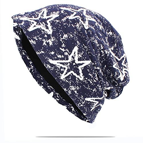 WQZYY&ASDCD Gorro Beanie Sombrero Sombreros De Moda para Mujer, Color Sólido, para Mujer, Sombreros Skullies, Sombreros, Sombreros Finos para Hombre, Unisex 56-62Cm Aht173Blu