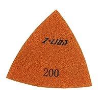 Baoblaze 三角ダイヤモンド研磨パッド80mm / 93mマナイトストーンコンクリート大理石 - 93mm 200#