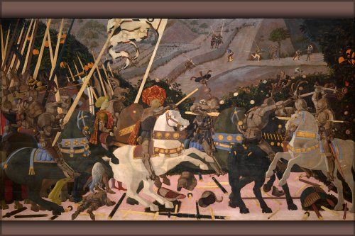 "24""x36"" Gallery Poster, Battle of San Romano by Paolo uccello"
