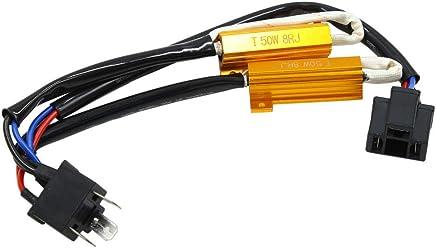Sourcingmap Carcasa de aluminio resistente 100 W 100 Ohm para convertidor de LED de repuesto 100 W 100 RJ color dorado