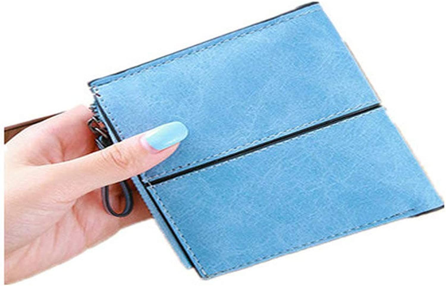 ACHKL Women Short Simple Retro Personality Change Wallet Purse Card Bag ACHKL (color   color bluee, Size   OneSize)