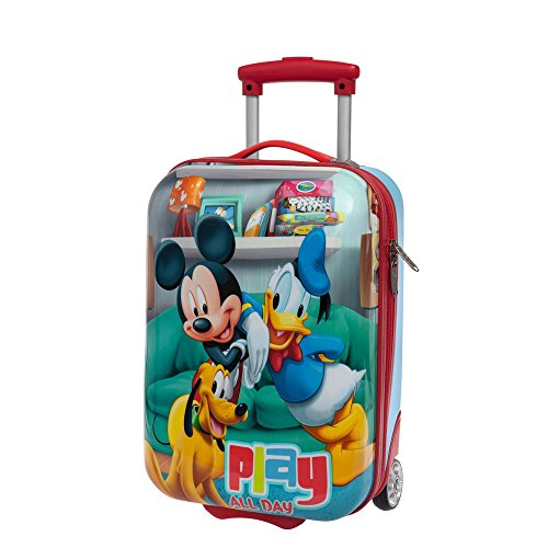 Disney Mickey Play Bagaglio a Mano, ABS, Rosso, 48 cm