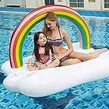 Lcme Flotadores de Piscina para Adultos, colosal colchón de Fila de Cama Flotante para Piscina Sofá de Agua Junto al mar Cama de Aire Flotante Cojín de Fila de Agua Flotante para Nadar en la Playa