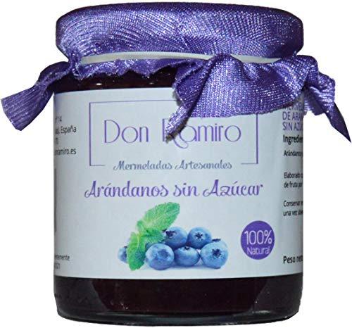 Mermelada Artesana Don Ramiro Arandanos Sin Azucar. 100% Natural Elaborado con 98gr De Fruta por 100gr. P.neto 250gr.