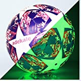 Laxnako Football Size 5 Light Up Football Glow in the Dark Soccer Ball Training Football Professional Club...
