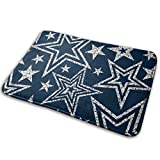Graffiti Pentagram White Blue Polyester Flannel Bath Mat Non Slip Extra Soft and Absorbent Shaggy Rug Dry Fast Perfect For Bathroom Indoor Tub Shower Bedroom Living Room Carpet 15.7x23.5 Inch