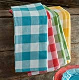 Manan high Density Kitchen Napkin, Kitchen Towel in Pure Cotton 50x50cm (Pack of 6, Multicolour)