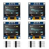 Seamuing OLED Anzeige Modul I2C IIC 128X64 0,96 Zoll Anzeigemodul SSD1315 Gelb Blau Zweifarbiges Display mit Stiften für Arduino UNO R3 STM (4 Stück)