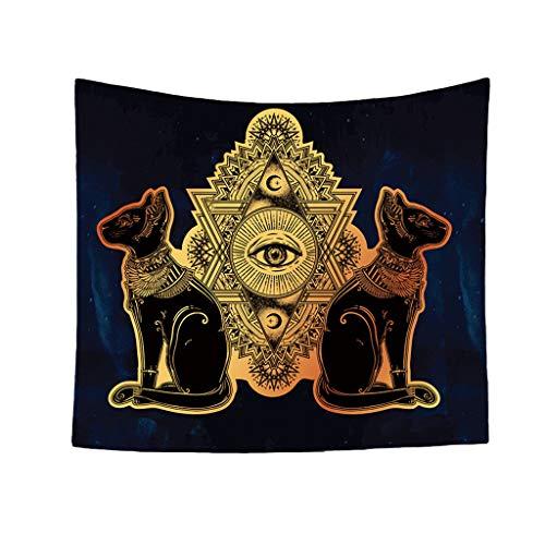 Qmber – Decoración de Pared Indio – Tapiz Creative Mandala – Decoración Principal de Pared – Decoración de Pared – Boho Pared Colgante Fondo Dios de Sol patrón Toalla de Playa, Lona, E1, 150 x 130 cm