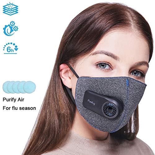 Protector de cara inteligente eléctrico con 5 filtros compuestos Filt
