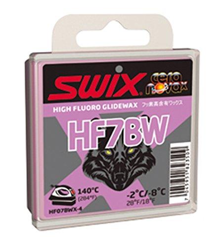 Swix HF07BWX-4 Cera Nova X High Fluoro Wachs mit BW Additiv, Violett, 40 g