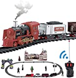 RS Export Remote Controlled Train and Track Set with Real Smoke, Sound & Light Toy Toy Train with Smoke Emits Light and Sound Train Track Set for Kids