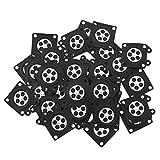 OVBBESS 30 piezas de carburador de motosierra almohadillas de membrana para carburador Zama 2500/3800/4500/5200/5800 Accesorios
