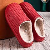 Zapatillas Calientes peludas de Moda para Mujer Zapatos de Hombre Zapatillas Casuales-Red_40-41