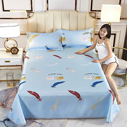 MACHAO Summer Foldable Air Conditioning Mat,Summer printed sheets, foldable, washable air-conditioning mat-A22_160*230cm two-piece set
