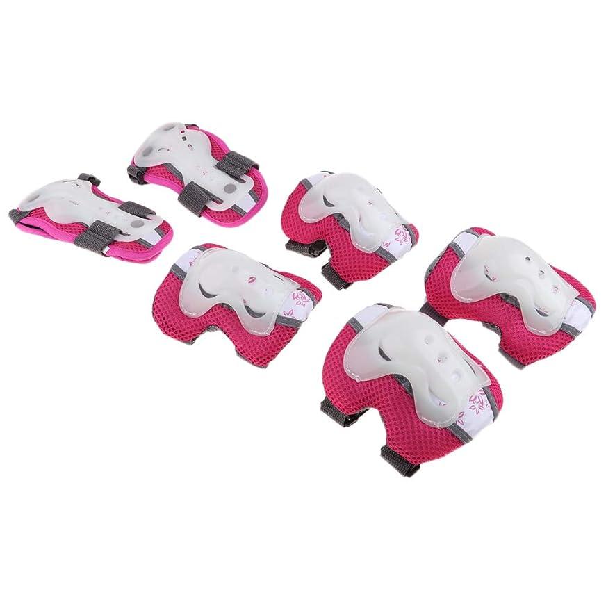 スリムファイルやさしくPerfeclan 6個入 子供初心者用 肘パッド 手首パッド 膝パッド 保護具 スケートボード 耐衝撃性 通気性 全3色2サイズ
