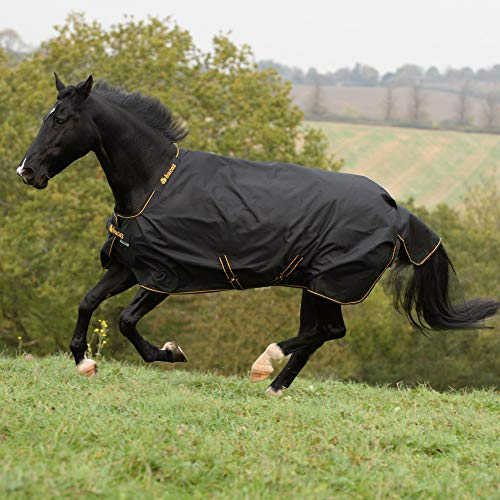 Bucas Irish Turnout Light 50g Classic 1200D - black/gold, Groesse:140