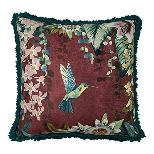 Paoletti Contemporary Hanging Gardens Cushion Cover, Aubergine, 50 x 50cm
