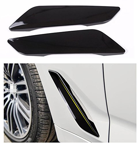 Eiseng Side Wing Air Vent Hood Intake Fender Cover Trim for BMW 5 Series G30 2017 2018 2019 2020 2021 Exterior Accessories