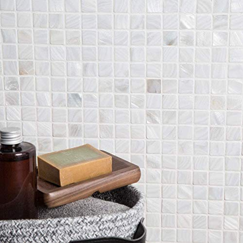 Diflart Oyster Mother Of Pearl Shell Square Mosaic Tiles For Kitchen Backsplashes Bathroom Walls Spa Pool Tile 10 Sheets Box Buy Online In Turkey At Desertcart