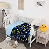 Elegant Home Kids Soft & Warm Multicolor Fun Dinosaurs Design Sherpa Baby Toddler Boy Blanket...