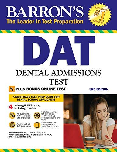 DAT: Dental Admissions Test (Barron's Test Prep)
