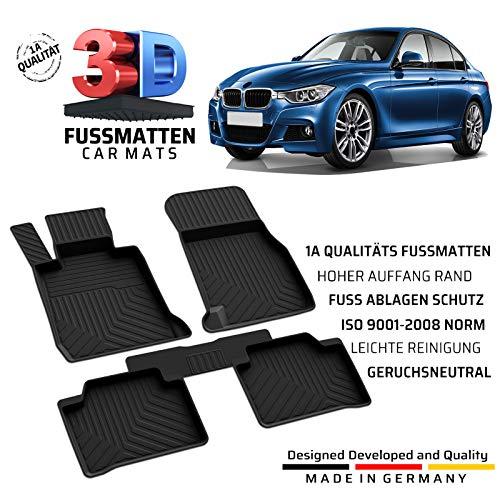 fussmattenprofi.com Auto Gummifußmatten Passend für BMW 3 (F30/F31) Baujahr 2011-2019
