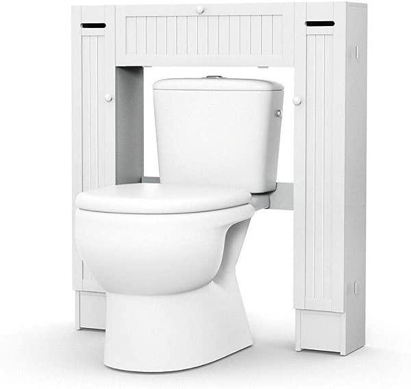 BS Above Toilet Storage White Over The Toilet Storage 2 Side Cabinets Paper Holder Bathroom Practical Indoor Cupboard Pull Down Shelf Up Brathroom Organizer Furniture EBook By BADA Shop