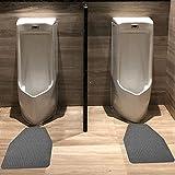 WFGY Toilette Stehmatte Büro Einkaufszentrum Hotel Bad Saugfähige rutschfeste Fußmatte Herren Urinalmatte Urinal Pad,Grau,15.7''x23.6''(40x60cm)