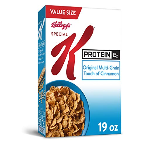 Kellogg's Special K Protein, Breakfast Cereal, Original, Good Source of Protein, Value Size, 19oz Box