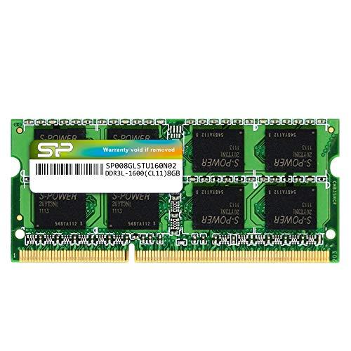 Silicon Power 8 GB DDR3 1600 MHz (PC3 12800) 240 pin CL11 1,35 V SODIMM Modulo di memoria per computer portatile, bassa tensione e risparmio energetico