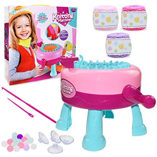 Máquina de tejer 2 en 1, juego de lana para manualidades para niños, profesor de tejer...