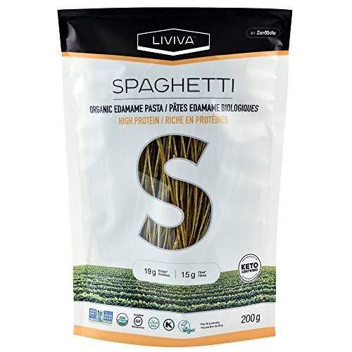 LIVIVA High Protein Keto-Certified Organic Edamame Spaghetti 7 Ounce (Pack of 6)
