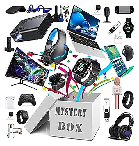 LBXZ Mystery Box Caja sorpresa al azar, caja de regalo de Mystery Box Electronics, al azar, caja sorpresa de cumpleaños. Es un juego sobre la suerte y la aventura, todo es posible.